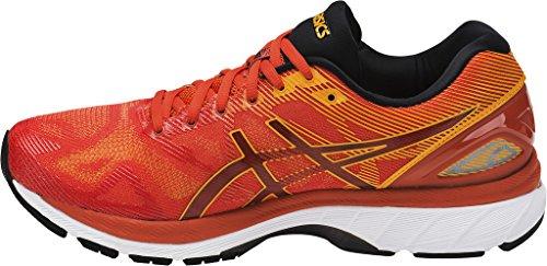 Asics Herren Gel-Nimbus 19 Laufschuhe für Das Training auf Der Straße, Indigoblue/Safetyyellow/Electricblue Rot (Red Clay/gold Fusion/phantom)