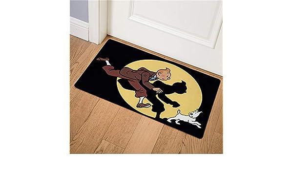 FeiXing158 Cartoon Tim und Struppi Abenteuer Auto Pferd Hause Fu/ßmatte Korridor K/üche Teppich Indoor Outdoor Willkommen rutschfeste