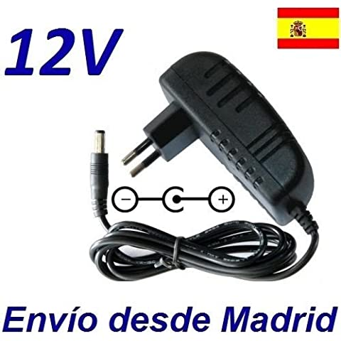 Cargador Corriente 12V Reemplazo Disco Duro Western Digital WD Elements Desktop WDBWLG0040HBK Recambio Replacement