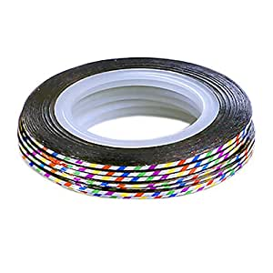 TNBL Nail Art Stripes Nail Art Stripes Tape Zierstreifen Packung mit 10 Rollen Striping Tape in verschiedenen Farben