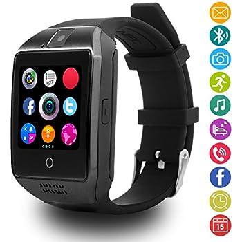 LATEC Reloj Inteligente con Cámara Tarjeta SIM / TF, Notificación de WhatsApp Facebook, Twitter, Monitor de Sueño, Podómetro, Bluetooth Smartwatch, ...