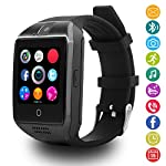 LATEC Curved Screen Smartwatch Bluetooth Smart Watch With Soft Strap Supports SIM TF Card Remote Camera Pedometer SNS Notification Sleep Monitor Anti Lost Photograph MP3 SMS WhatsApp