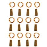 TAOtTAO 8Pcs Cork Shaped LED Night Starry Light Wine Bottle Lamp For Party Decor (Gelb)