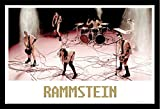 Rammstein - Mann gegen Mann - Musikposter New Metal - Grösse 91,5x61 cm + Wechselrahmen, Shinsuke® Maxi MDF schwarz, Acryl-Scheibe