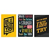#2: Combo pack of Motivational quotes Wall Poster Quotes & Motivation ,(12X18) BY Vprint
