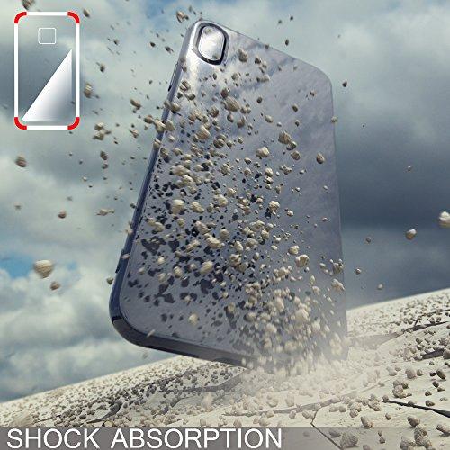 iPhone X Hülle Handyhülle von NICA, Ultra-Slim TPU Silikon Jelly Case, Dünnes Cover Gummi Schutzhülle Skin, Etui Handy-Tasche Backcover Bumper für Apple i-Phone X Smartphone, Farbe:Herz Schwarz Pink