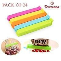 Premsons Plastic Seal Clips Big & Small Size Clamp Sealer Set (Pack of 24 Multicolor)