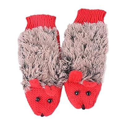 Vertvie Damen Thermo Igel Strick Handschuhe Fausthandschuhe für Herbst Winter
