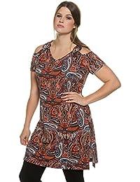 Ulla Popken Femme Grandes tailles Longshirt, Allover 706648