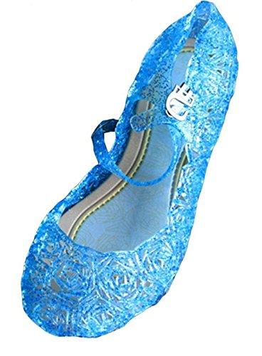 Kidslove Prinzessin Kostüm Schuhe Karneval Cosplay Mädchen Absatz-Schuhe (EU32) (Elsa Schuhe Für Kinder)