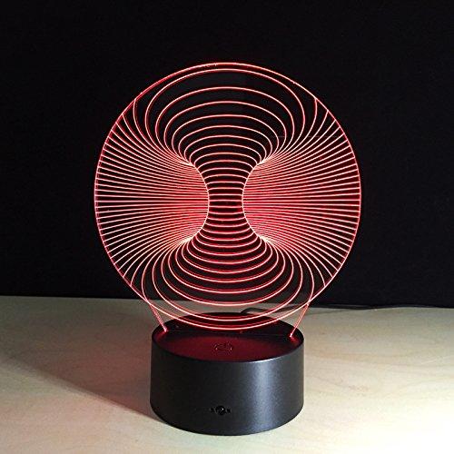 Lampada da tavolo astratta creativa incredibile luce notturna Lampada da tavolo regalo di Natale lampada da tavolo per ufficio decorazione immagine arte imm