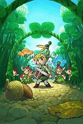 CGC Große Poster–The Legend of Zelda Nintendo GBA Minish Cap–zel014, Papier, 24