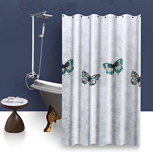 MEILI Badezimmer Duschvorhang dick schimmelig wasserdichte Duschtrennwand Duschvorhang , 1.5 meters wide *2 meters high