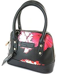 Designer-tasche 'Christian Lacroix'schwarz rot - 30x27x14 cm.