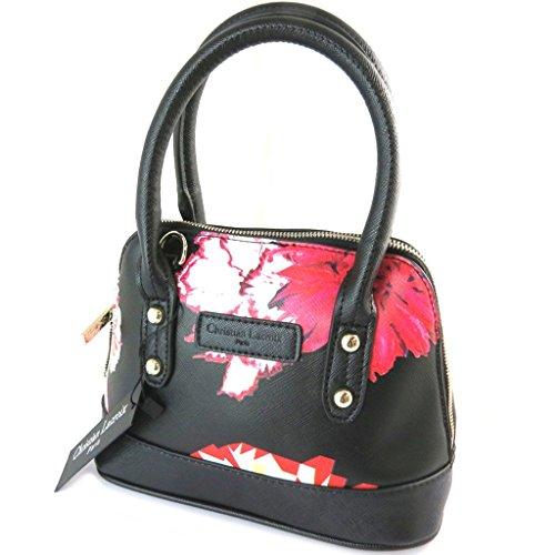 Bag designer 'Christian Lacroix'rosso nero - 30x27x14 cm.