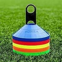 FORZA Training Marker Cones [50 Pack] - Premium-Grade Training Cones & Stand (Multi Sport)