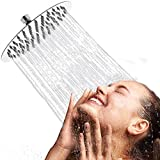 Artbath Soffione doccia con anticalcare in Acciaio Inox Docce fisse a Risparmio Idrico rotondo...