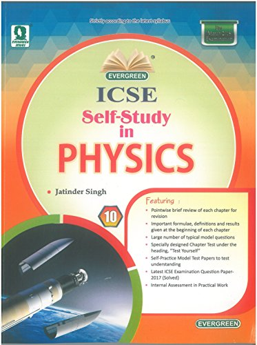 Evergreen ICSE Self-Study in Physics for Class - 10 price comparison at Flipkart, Amazon, Crossword, Uread, Bookadda, Landmark, Homeshop18