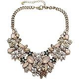 Damen Vintage Statement Kette Modeschmuck Collier Halskette Hochzeit Gold nickelfrei