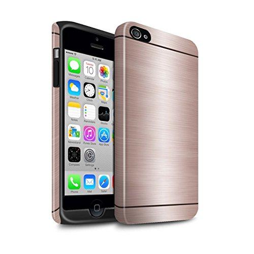 Stuff4® Glanz Harten Stoßfest Hülle/Case für Apple iPhone 4/4S / Kupfer Muster/Gebürstetem Metall Mutser Kollektion (Iphone 4s Gebürstetem Metall Case)