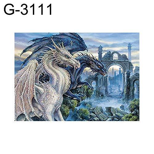 zzJiaCzs G-3111 Diamantmalerei, 30 x 40 cm, Kreuzstichmuster, Stickerei-Set für Heimwerker, Wanddekoration G-3111 -