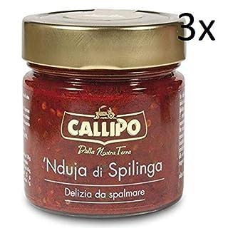 3x Callipo Nduja di Spilinga 190g Würzige streichfähige Schweine salami