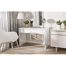 Endo Schreibtisch Endo Clara Konsole Konsolentisch Tisch Schminktisch Tisch  Modern // Weiß Hochglanz