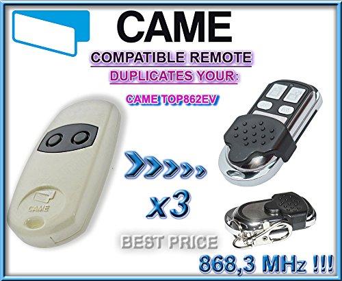 3-x-CAME-TOP862EV-universal-mando-a-distancia-de-repuesto-8683-mhz-transmisor-llavero-para-cdigos-fijos-clone