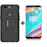 Amzer Combo Pack of 2 Premium ( Hybrid Case + Screen Protector) for One Plus 5T (Black::Clear)