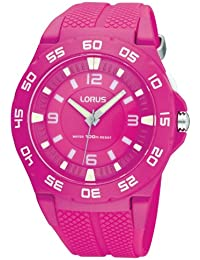 Lorus Damen-Armbanduhr XL Fashion Analog Quarz Kautschuk R2343FX9
