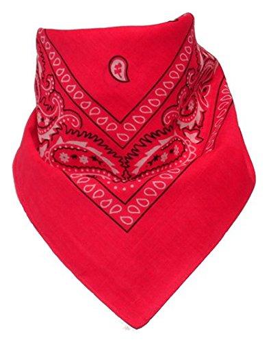 BOOLAVARD 100% Baumwolle, Paisley Bandana Bandana Headwear / Haar-Band-Schal-Ansatz-Handgelenk-Verpackungs-Band-Kopf-Bindung (Schwarz, Rot, Blau, Weiß, etc.) 60+ Stile (35 # Fuchsia) (Band Schal)