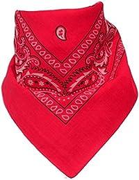 BOOLAVARD 100 Coton, 1 6 ou 12 Pack Bandanas avec Motif Paisley Originale | Choix de Couleur Couvre-chef / Cheveux écharpe cou Poignet Wrap tête de Bande Obligataire