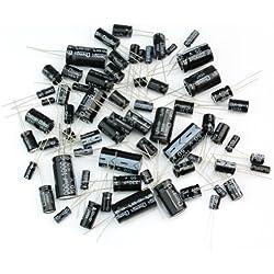 125 x Condensadores Electrolíticos 1uF-2200uF 25 Valores Kit Surtido 16V/25V/50V