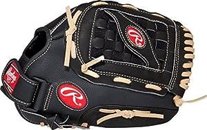 RAWLINGS Softball-Handschuh RSB-Serie, Unisex, RSS125C-6/0, Schwarz, 32 cm