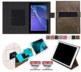 reboon Sony Xperia Z2 Tablet Hülle Tasche Cover Case Bumper | in Braun Wildleder | Testsieger