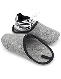 Sur-chaussons d'Intérieur Légers pour Chaussures pantoufles musée gris avec / sans ABS unique