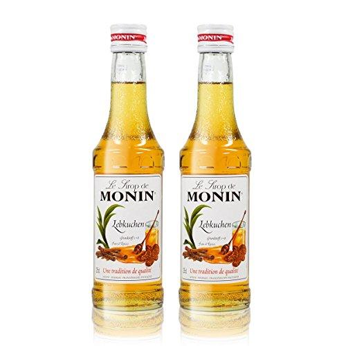 2x Monin Lebkuchen Sirup, 250 ml Flasche - für Cocktails, zum Kaffee oder Kochen