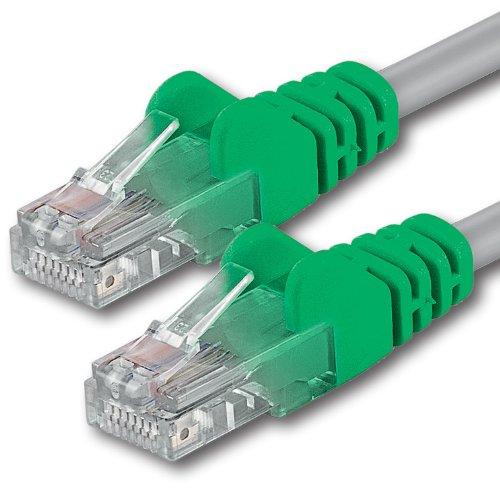 1aTTack CAT 5e Crossover UTP Netzwerk Patch-Kabel mit 2X RJ45 Stecker 20m -