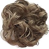 PRETTYSHOP parrucchino, updos, panino disordinata, voluminoso, ondulato,Brunette 22A G12a