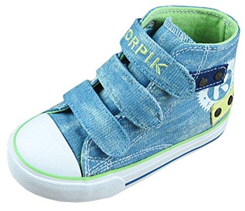 Scothen Unisex-Baby Kinder Sneakers Turnschuhe Canvas Kinder Schuhe Denim Laufen Sport Baby Turnschuhe Mädchen Jungen Sneaker Leinenschuhe Segeltuchschuhe High Top Laufen Sport Baby Turnschuhe