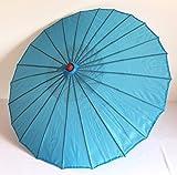 AAF Nommel ® Deko- Sonnenschirm aus Holz in blau, einfarbig transparent, 103