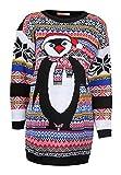 Damenen Aztekisch Pinguin Strick Lange Ärmel Pullover