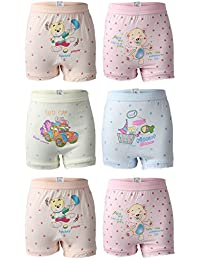Cartoon Printed Girls Bloomer Pack of 6 from Bodycare