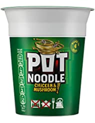 Pot Noodle Chicken and Mushroom Noodles, 12 x 90 g