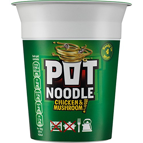 Pot Noodle Chicken and Mushroom Standard, 90 g (Pack of 12)