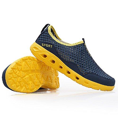 Peggie House femme Réspirante Séchage Rapide pour Slip-On Sandales Chaussures de Plein Air Chaussures de Marche taille: 35-40 Jaune et Bleu