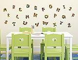 I-love-Wandtattoo WAS-10204 Kinderzimmer Wandtattoo Set Buntes Alphabet 26 Buchstaben zum Kleben Wandsticker Wandaufkleber Sticker Wanddeko
