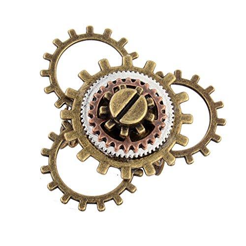 Zahnrad Steampunk Ring (Gazechimp Steampunk Uhr Teil Zahnräder Ring für Herren und Frauen Mode Schmuck Geschenk - Bronze 6)