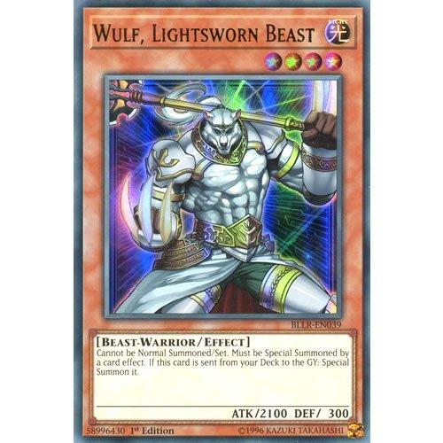 Lightsworn Beast BLLR-EN039 Yugioh Near Mint 1st Ed Wulf
