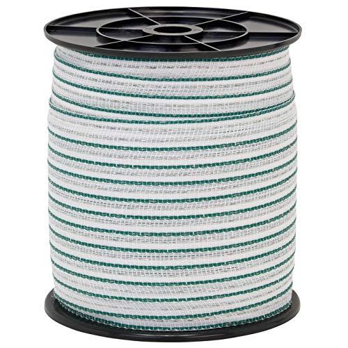 Hochwertig Weidezaun Band 200m, 20mm, 2x0,3 Kupfer + 4x0,3 Niro, weiß-grün 4 - 2